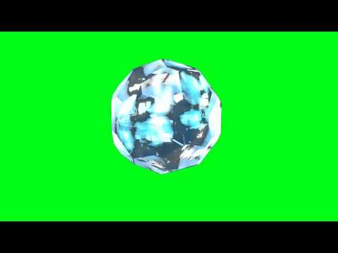 rotating crystal -  green screen effects