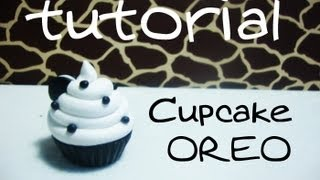 getlinkyoutube.com-Tutorial Cupcake de Oreo de Arcilla Polimerica/Porcelana en Frio