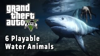 getlinkyoutube.com-6 Water Animals You Can Play - GTA V