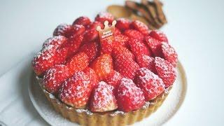 getlinkyoutube.com-딸기듬뿍, 혜자스러운 딸기타르트 만들기 | 한세 Strawberry Tart