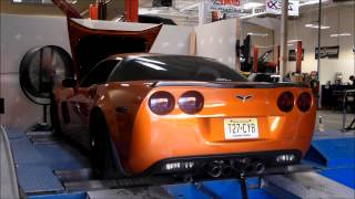 getlinkyoutube.com-Heads/Cam Corvette C6 Z06 on the dyno. Tune Time Performance