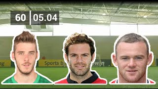 Rooney, Mata, De Gea With Corner Kick Challenge