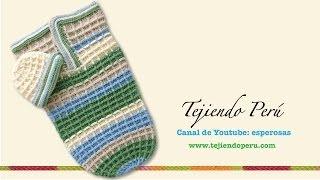 getlinkyoutube.com-Capullo o cocoon y gorro en waffle crochet para bebes (Parte 1)
