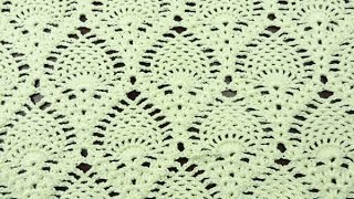 getlinkyoutube.com-Crochet: Punto Piña Recto