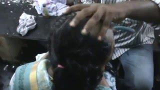 getlinkyoutube.com-Tall Beautiful Woman waist length hair Shaved off