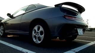 getlinkyoutube.com-アルファロメオGTV alfa GTV  OVER2本出しマフラー音 exhaust sound V6 3000cc