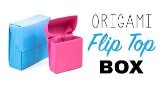 getlinkyoutube.com-Origami Flip Top Box Tutorial ♥︎ DIY ♥︎