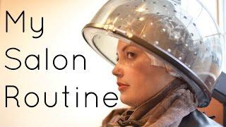 getlinkyoutube.com-Curly Hair Salon Routine