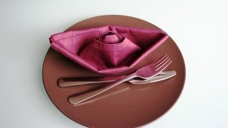 getlinkyoutube.com-Servietten falten: Schiff / Boot napkin folding boat / ship