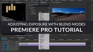 Adjusting Exposure with Blend Modes