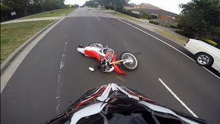 getlinkyoutube.com-Motorbike Crash CRF250L