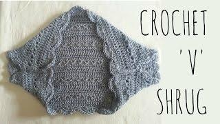 getlinkyoutube.com-Springtime 'V' Shrug | Crochet Pattern | Garment Tutorial