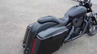 getlinkyoutube.com-Custom built honda shadow 1100 bagger with 26 inch front wheel.
