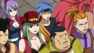 getlinkyoutube.com-Natsu, Gajeel and Sting struggling on chariot