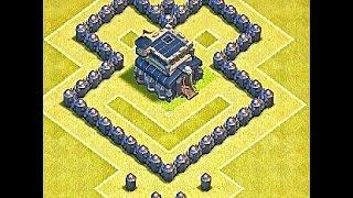 getlinkyoutube.com-Clash of clans - TH3 WAR BASE LAYOUT