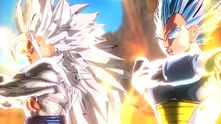 getlinkyoutube.com-Super Saiyan Blue Vegeta and SSJ5 Goku Fusion (DBXV Mod)
