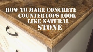 getlinkyoutube.com-How to Make a Concrete Countertop Look like Natural Stone - Icoat Review