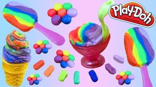 getlinkyoutube.com-Play doh Frozen clay & Play doh Ice cream Cupcakes Playset Playdough