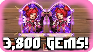 getlinkyoutube.com-Castle Clash Rolling 3,800 Gems For Heartbreaker