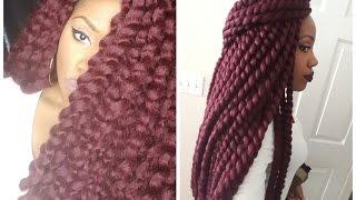 getlinkyoutube.com-Crochet Senegalese Twist(Unravel/Final Review/Takedown)