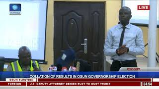 Collation Of Results In Osun Governorship Election Pt.11 |Osun Decides|