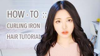 getlinkyoutube.com-[ENG CC] 봉고데기로 여신 웨이브 튜토리얼 - Curling Iron Tutorial | 다또아
