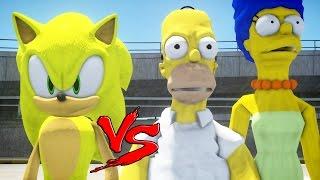 getlinkyoutube.com-The Simpsons VS Super Sonic