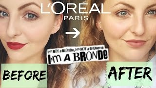 LOreal Preference Glam GO BRONDE Review Before/During/After.