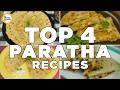 4 Must Have Parathas Aloo Ka Paratha, Chicken Cheese Paratha, Muli Ka Paratha and Pizza Parata