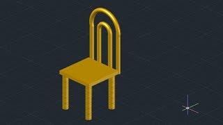 getlinkyoutube.com-3D Chair design - AutoCAD (Basic)