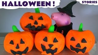 getlinkyoutube.com-Peppa Pig English Episodes Compilation of Halloween Stories with Play Doh Stop Motion Toys TT4U