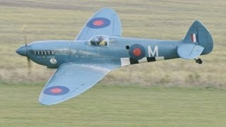 """getlinkyoutube.com-GIANT 1/4 SCALE RC PR MK 9 SPITFIRE """"CONNIE"""" - TEST FLOWN AT NLMFC  BY MIKE & DEANO - 2014"""