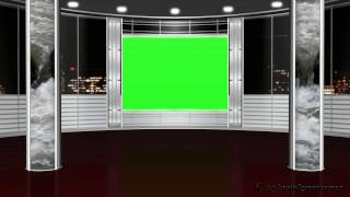 getlinkyoutube.com-virtual studio background - green screen effect