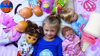 getlinkyoutube.com-Playing Baby Born & Reborn Dolls Играем с Куклами Беби Бон укладываем спать Малышей Видео для детей
