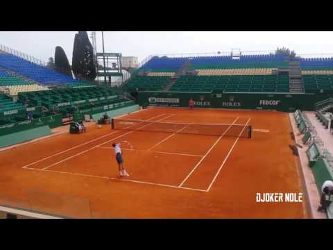 Novak Djokovic Practice with Viktor Troicki - Monte Carlo 2017 (HD)