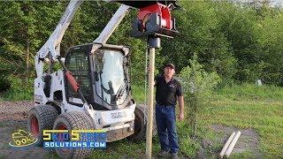 getlinkyoutube.com-Skid Steer Solutions Eterra Tremor Vibratory Post Driver