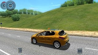 getlinkyoutube.com-City Car Driving 1.3.3 Peugeot 308 GTi Taxi [1080p]