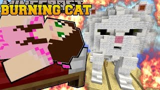 getlinkyoutube.com-Minecraft: BURNING CLOUD THE KITTEN (OUR REAL LIFE CAT!) Mini-Game