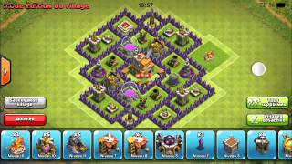 getlinkyoutube.com-Village défensif HDV 7 Clash of Clans