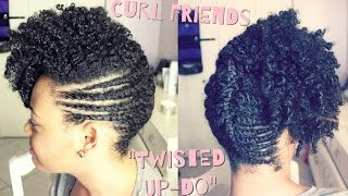 getlinkyoutube.com-The CurlFriends Series | Funky Up-Do on Natural Hair