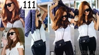 Once SNSD . Jessica Jung . 150911 . 150912 . Airport Fashion . Incheon . From Beijing