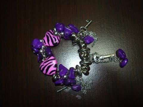 Diy. elabora tus propios accesorios. pulseras en piedras acrílicas paso a paso  No.015