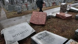 getlinkyoutube.com-HUNDREDS Of Jewish Gravestones Vandalized