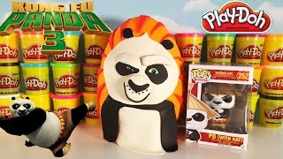 Giant KUNG FU PANDA 3 Play Doh Po Surprise Egg | Funko Pop Blind bags & Blind Boxes