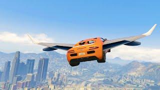 getlinkyoutube.com-FLYING CARS MOD (GTA 5 Mods Funny Moments)