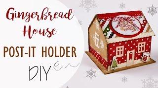 getlinkyoutube.com-Tuto: Porta post-it Casa di Pan di zenzero - ENG SUBS Post-it holder Gingerbread house DIY