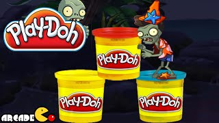 getlinkyoutube.com-Play Doh Plants vs Zombies 2: Big Wave Beach Pompadour Conehead  Zombie