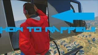 getlinkyoutube.com-GTA V Online - How to rappel from a helicopter!