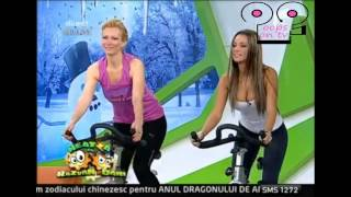 Oops OnTV Game Show - sexy gym & bicycle gym