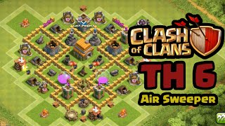 CoC TH 6 + Air Sweeper Hybrid Base !!! (Good Base after TH11 Update)
